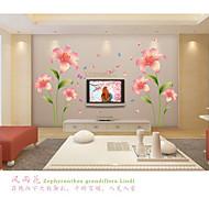 Romantiek / Mode / Bloemen Wall Stickers Vliegtuig Muurstickers,pvc 60*90cm
