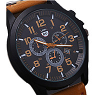 Men's Luxury Watches Liandu Style Brand Sports Watches 2015 Quartz Watch Casual Military Waterproof Leather Watch Wrist Watch Cool Watch Unique Watch