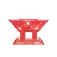 Puzzle Zabawki 3D Kryształowe puzzle Cegiełki DIY Zabawki Chińska architektura ABS Srebrny Model / klocki