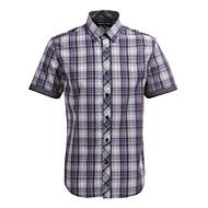 JamesEarl 男性 シャツカラー ショート シャツ&ブラウス レッド - DA102005018