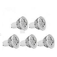 5W GU10 LED-kohdevalaisimet MR16 1 350-400 lm Kylmä valkoinen AC 85-265 V 5 kpl