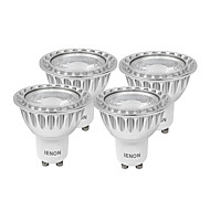 IENON®  4 pcs  5W GU10 LED Spotlight MR16 1 COB 400-450 lm Warm White / Cool White Decorative AC 100-240 V