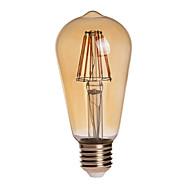 8W E26/E27 LED Globe Bulbs ST64 8 COB 750 lm Warm White Dimmable / Decorative / Waterproof AC 110-130 V 1 pcs