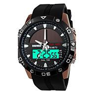 SKMEI Heren Sporthorloge Digitaal horloge Kwarts Digitaal Japanse quartzLCD Kalender Waterbestendig Dubbele tijdzones alarm Zonne-Energie
