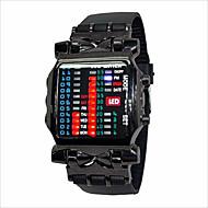 Heren / Dames / Voor Stel Modieus horloge Digitaal LED Rubber Band Zwart Merk-
