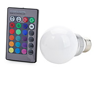 Marsing® E27 3W 200lm COB LED RGB Light Bulb w/ Remote Control - White (AC 85~265V)