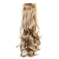 Silver Length 50CM The New Curly Wig Melange Belt Type Horsetail(Color 10/613)