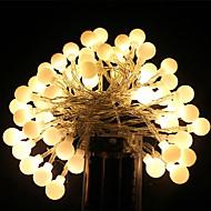 5 M 40 Dip Led Sıcak Beyaz / Beyaz / RGB / Mavi / Pembe Su Geçirmez / Şarj Edilebilir 5 W Dizili Işıklar AC100-240 V