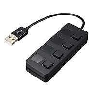 USB 2.0 4 port / interfész USB hub külön kapcsolható 8,5 * 2 * 1,5