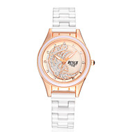 Γυναικεία Μοδάτο Ρολόι Προσομοίωσης Ρόμβος Ρολόι Χαλαζίας Ανθεκτικό στο Νερό Καθημερινό Ρολόι απομίμηση διαμαντιών Κεραμικό Μπάντα Λευκή