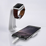 iWatch Stand for Apple Watch and iPhone Cradle Dual 2 in 1 Dock Station Silver