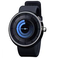 Hommes Femme Unisexe Montre Tendance Montre Décontractée Quartz LED Silikon Bande Noir Blanc Bleu