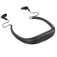 Bluetooth Sports Earphone with 4GB Memory Black