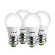 3W E26/E27 LED-globlampor G45 6 SMD 240-270 lm Varmvit / Kallvit Dekorativ AC 100-240 V 4 st