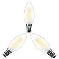 3 stk. ONDENN E14 4 COB 400 LM Varm hvid C35 edison Vintage LED-glødetrådspærer AC 220-240 V