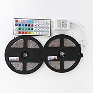 2 × 5m 300x2835 waterproof led smd rgb led strip licht controller remote and1bin2 verbindingslijn (12V)