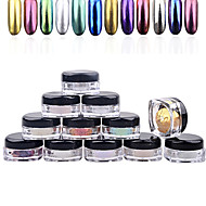 2g/Box Nail Glitter Powder Shinning Mirror Eye Shadow Makeup Powder Dust Nail Art DIY Chrome Pigment Glitters
