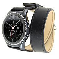 dobbelt ring ur rem læder se urrem til Samsung gear s2