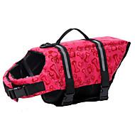 Σκυλιά Σωσίβιο Ροζ / Κυανό Ρούχα για σκύλους Καλοκαίρι Κόκαλο Αδιάβροχη