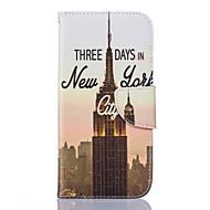 Για Samsung Galaxy S7 Edge Θήκη καρτών / Πορτοφόλι / με βάση στήριξης / Ανοιγόμενη / Με σχέδια tok Πλήρης κάλυψη tok Θέα της πόλης Μαλακή