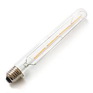 4W E26/E27 LED-globepærer T 4 COB 380 lm Varm hvid Dekorativ Vandtæt Vekselstrøm 220-240 V 1 stk.