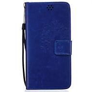 For Samsung Galaxy Note Pung / Kortholder / Med stativ / Flip / Præget Etui Heldækkende Etui Mælkebøtte Blødt Kunstlæder SamsungNote 5 /