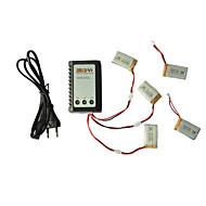 SyMa x5C / x5C-1 explorateurs parties x5C-11 3.7v 650mah lipo batterie 3 en 1 câble ligne x 5pcs chargeur w / b3