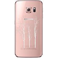 Mert Samsung Galaxy S7 Edge Átlátszó / Minta Case Hátlap Case Fa Puha TPU Samsung S7 edge / S7 / S6 edge plus / S6 edge / S6