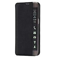 Varten Samsung Galaxy kotelo Tuella / Ikkunalla / AutomAutomaattinen auki/kiinni / Flip / Ultraohut Etui Kokonaan peittävä Etui Other Kova
