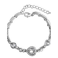 Naisten Ranneketjut Amuletti-rannekorut Kristalli Love Muoti Säädettävä Zirkoni Metalliseos Heart Shape Korut Rakkaus Korut