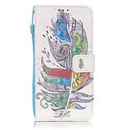 For Samsung Galaxy S7 Edge Kortholder Pung Med stativ Flip Mønster Etui Heldækkende Etui Fjer Hårdt Kunstlæder for SamsungS7 edge S7 S6