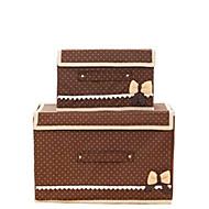 Коробки для хранения / Корзины для хранения / Шкафчики Нетканые сОсобенность является С крышкой , Для Бельё / Ткань / Стеганныеодеяла