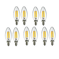 10pcs c35 4w E14 360lm 360 gradi caldo colore LED cool luce filamento (220-240)