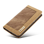 Luxury Flip Wallet Jeans+Genuine Leather Mobile Phone Case for Samsung Galaxy S6/S6 Edge/S7/S7 Edge (Assorted Colors)