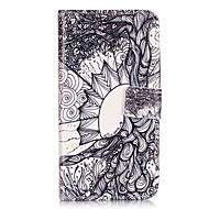 Mert Samsung Galaxy tok Pénztárca / Kártyatartó / Állvánnyal / Flip Case Teljes védelem Case Csempe Puha Műbőr SamsungJ5 / J3 / J1 Mini /