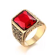 Gyűrűk Divat / Születési kövek Esküvő / Parti / Napi / Hétköznapi Ékszerek Titanium Acél Férfi Vallomás gyűrűk 1db,9 / 10 / 11 / 12 Ezüst