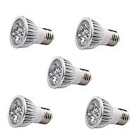 5W E26/E27 LED-kohdevalaisimet / Parivalaisimet MR16 1 Teho-LED 350-400 lm Lämmin valkoinen AC 85-265 V 5 kpl