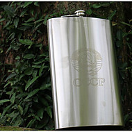 King Stainless Steel Flagon 64 Oz Bottle Flat Kettle Outdoor Portable Multifunktion / Praktisk Grip / Høj kvalitet Rustfrit Stål