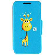 Giraffe Give You Flowers Pattern PU Leather Case For iPhone 7 7 Plus 6s 6 Plus SE 5s 5c 5 4s 4