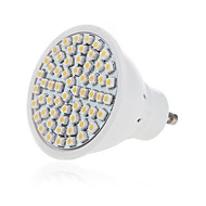 HRY® 5W 2835X60SMD GU10/MR16 Warm Cool White Color Plastic Shell LED Spot Lights(AC220-240V)