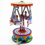 Novelty Toy  Pretend Play  Puzzle Toy  Wind-up Toy Novelty Toy  Pig  Merry-go-round Metal Rainbow For Kids