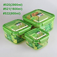 YOOYEE Brand Popular lock and seal take out plastic tupper box