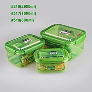 YOOYEE Brand Freezable Rectangular plastic container with lid
