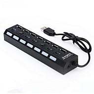 7 Portas USB Portas multi Other Início Charger com cabo para iPad / para Celular / Para outros Pad USB2.0 7-Port(5V , 5A)