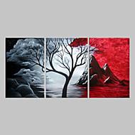 手描きの 抽象画 油彩画,トラディショナル 3枚 キャンバス ハング塗装油絵 For ホームデコレーション