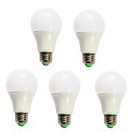 5pcs Dimmable 5W E27 12X5730SMD Warm Cool White LED Light Lamp Globe Bulbs