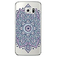 For Samsung Galaxy S7 Edge Transparent Mønster Etui Bagcover Etui Mandala-mønster Blødt TPU for SamsungS7 edge S7 S6 edge plus S6 edge S6