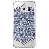 Mert Samsung Galaxy S7 Edge Átlátszó / Minta Case Hátlap Case Mandala Puha TPU SamsungS7 edge / S7 / S6 edge plus / S6 edge / S6 / S5 /