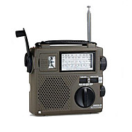 høy følsomhet bærbar radio hele verden band / økonomiske / miljø / dynamo radio håndsveiv rechargable radio