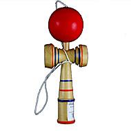 retrogusto classico kendama puzzle giocattoli - legno + rosso
